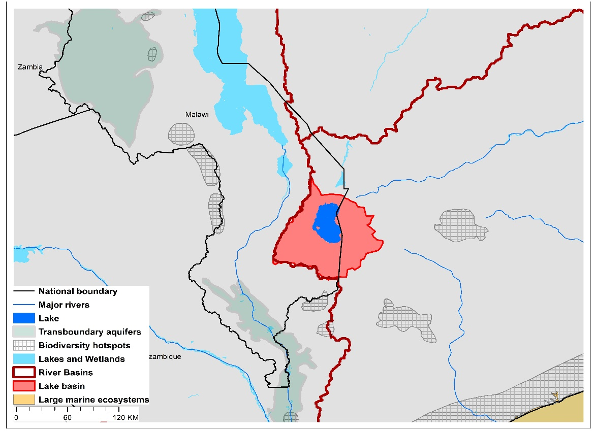 (a)Lake Chilwa basin and associated  transboundary water systems
