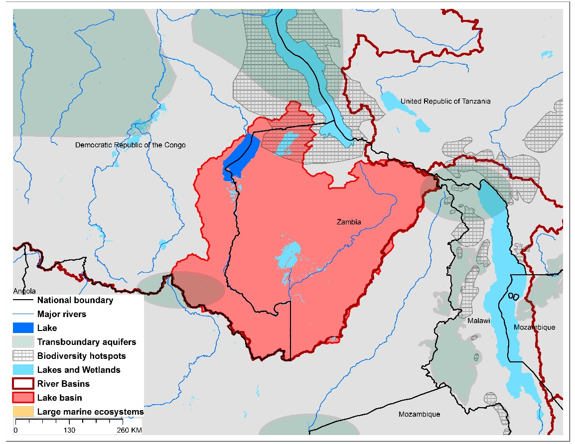(a)Lake Mweru basin and associated  transboundary water systems
