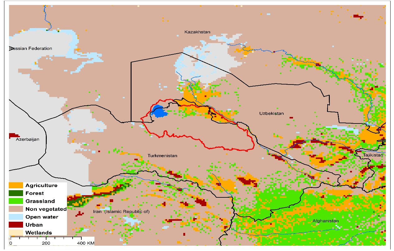 (a)Lake Sarygamysh basin and associated  transboundary water systems