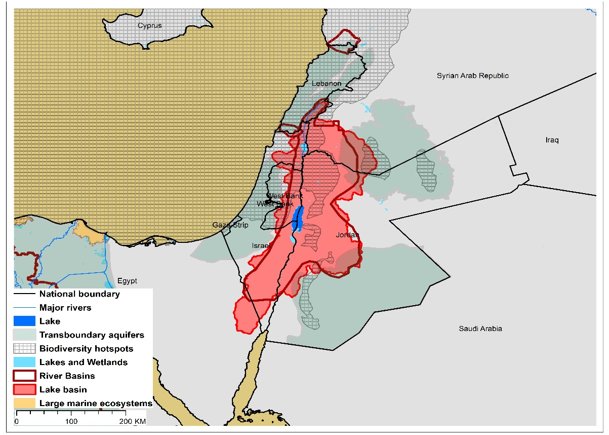 (a)Dead Sea basin and associated  transboundary water systems