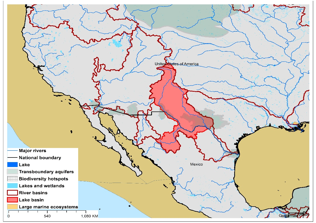 (a)Lake Amistad basin and associated  transboundary water systems